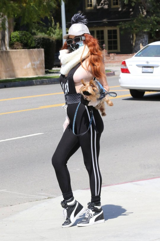 Phoebe Price Racy Braless Outfit