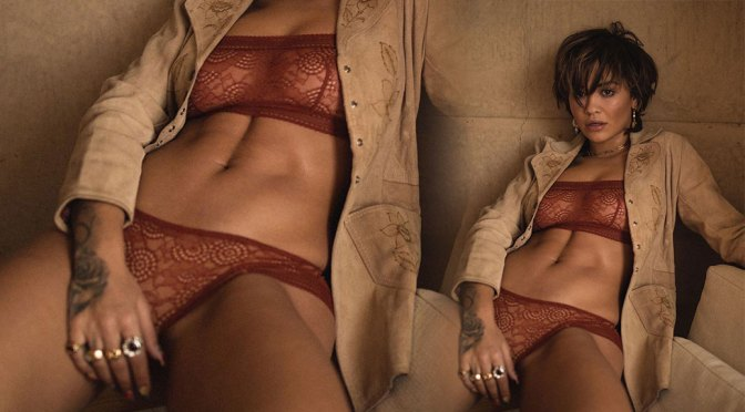 Rita Ora – Sexy Body in Lingerie in Love Magazine Photoshoot Outtake (NSFW)