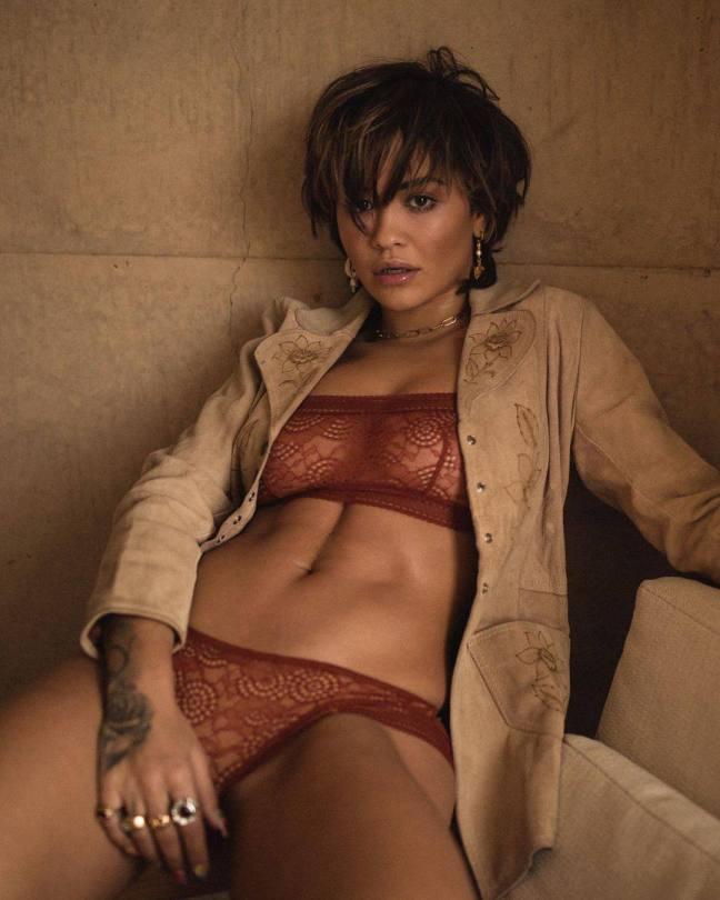 Rita Ora Sexy Lingerie Outtake