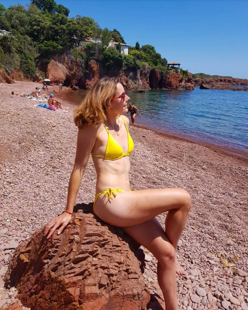 Alice Cornet In Yellow Bikini