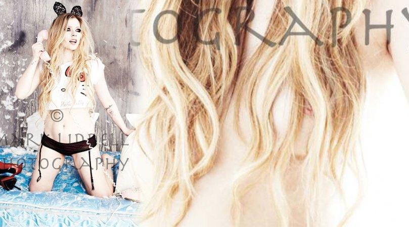 Avril Lavigne Hot Nipslip Photoshoot