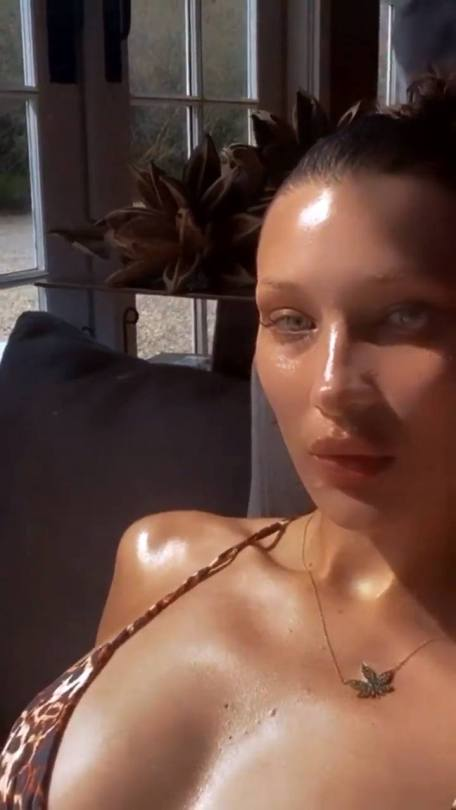Bella Hadid Sexy Boobs