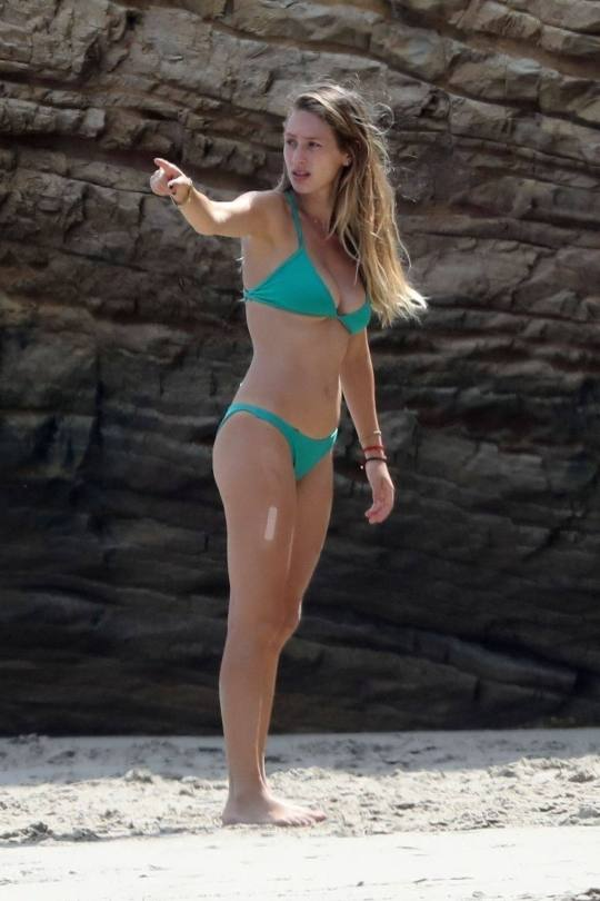 Dylan Penn Sexy Boobs At Beach