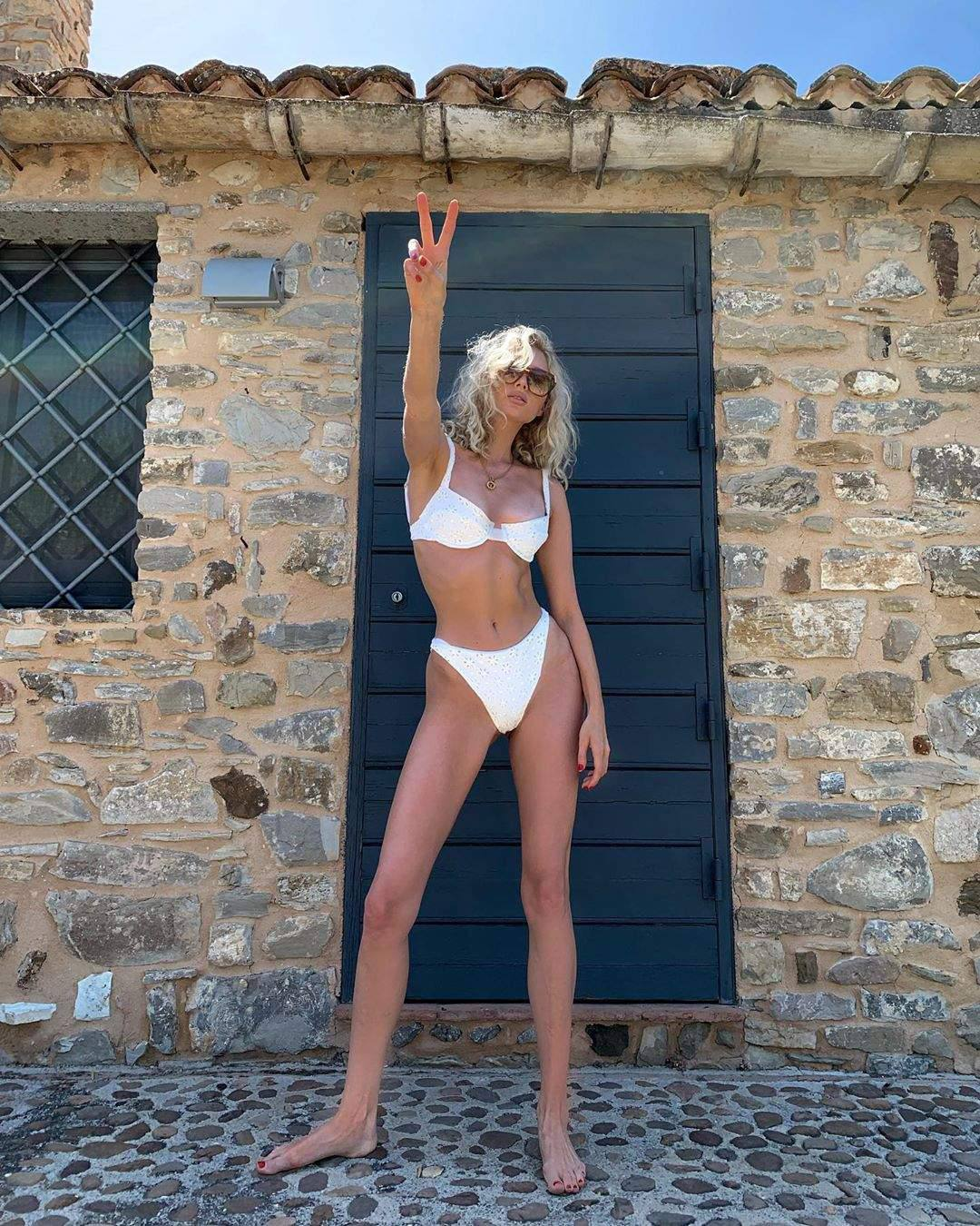 Elsa Hosk Beautiful In White Bikini