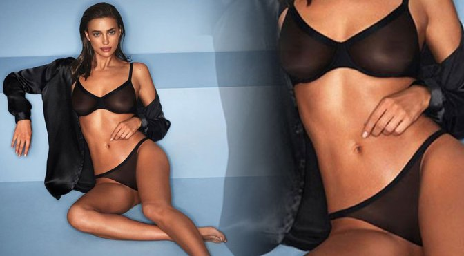 Irina Shayk in Sheer Black Bra and Panties and Other Sexy Links