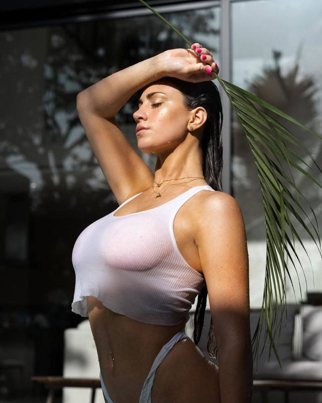 Jessica Bartlett Sexy In Wet T Shirt