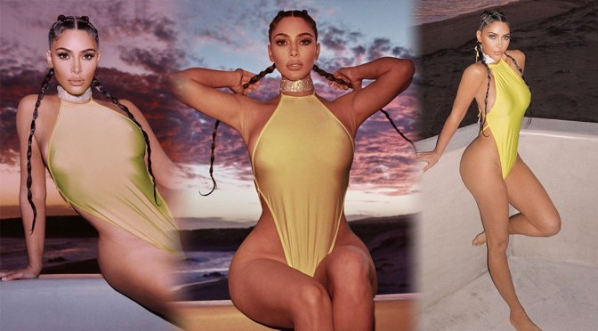 Kim Kardashian – Hot Body in Revealing Swimsuit Photoshoot