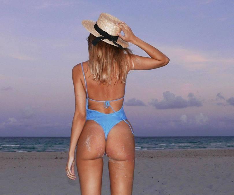 Kimberley Garner Sexy In Blue Swimsuit