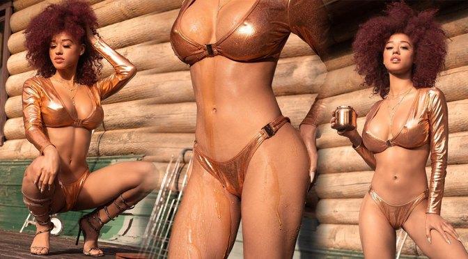 Stormi Maya – Sexy Boobs in Skimpy Bikini Photoshoot