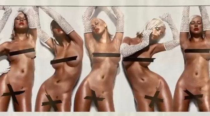 Christina Aguilera – Sexy Boobs in Naked Photoshoot Outtakes from Bionic Album Photoshoot