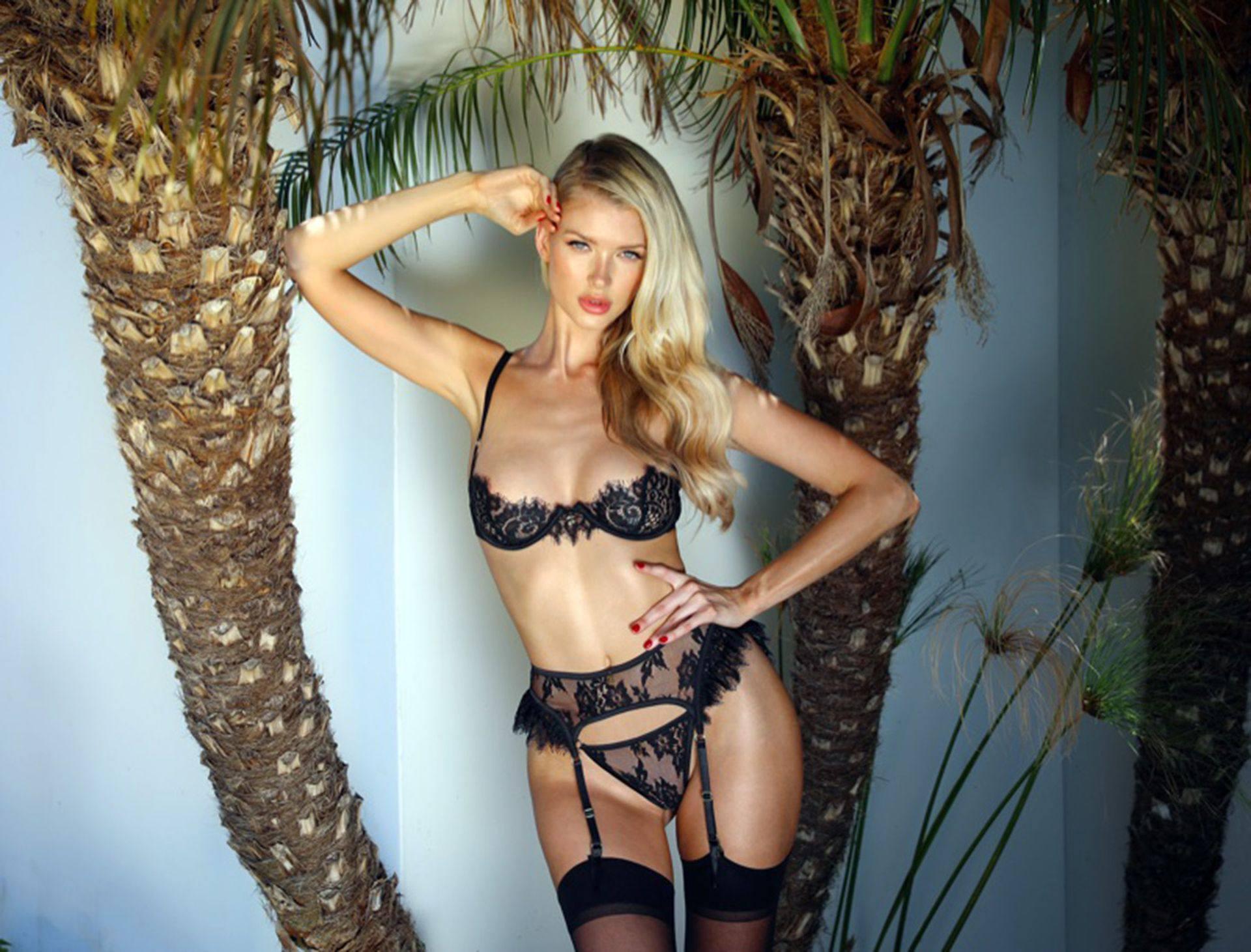 Erin Cummins Sexy Black Lingerie