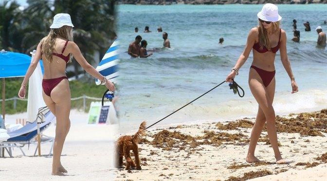 Roosmarijn de Kok – Sexy Ass in a Bikini on the Beach in Miami