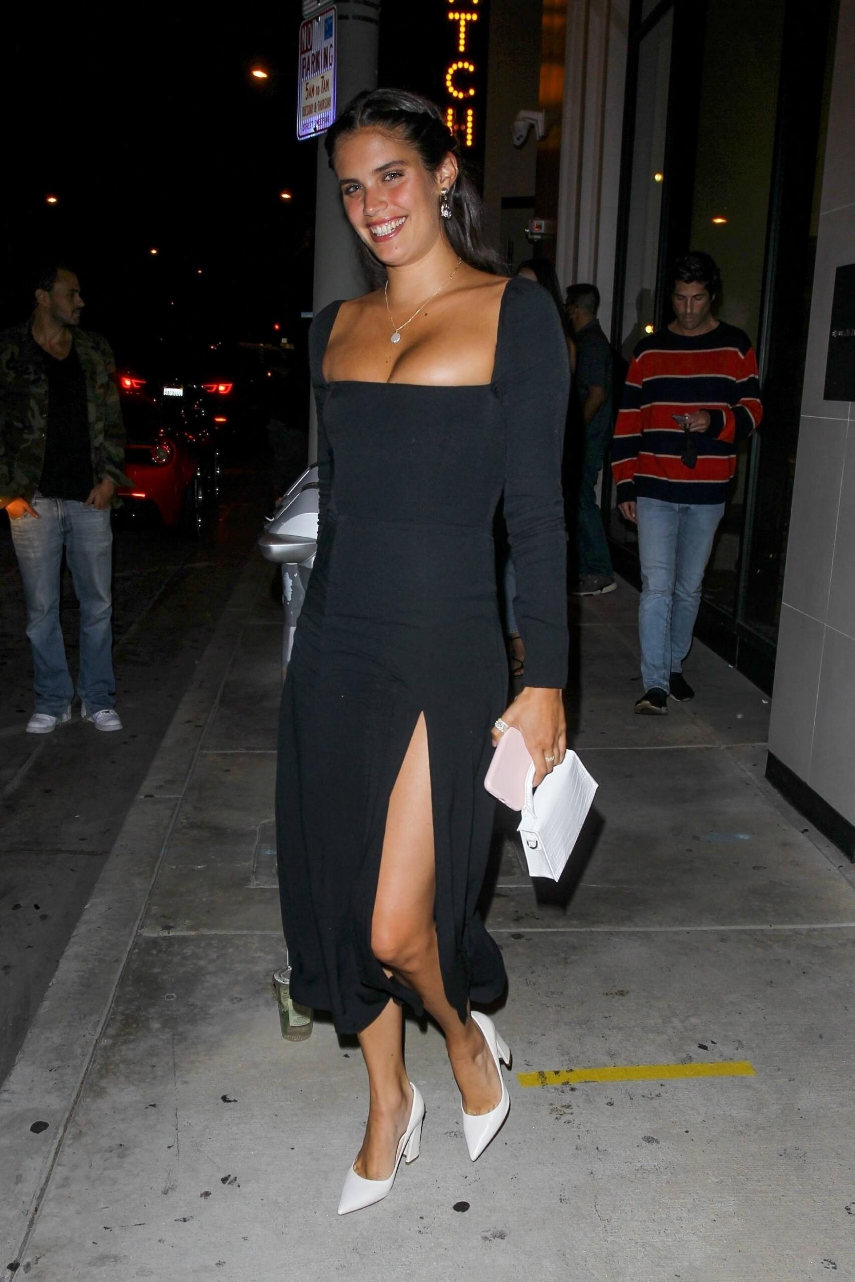 Sara Sampaio Sexy Black Dress