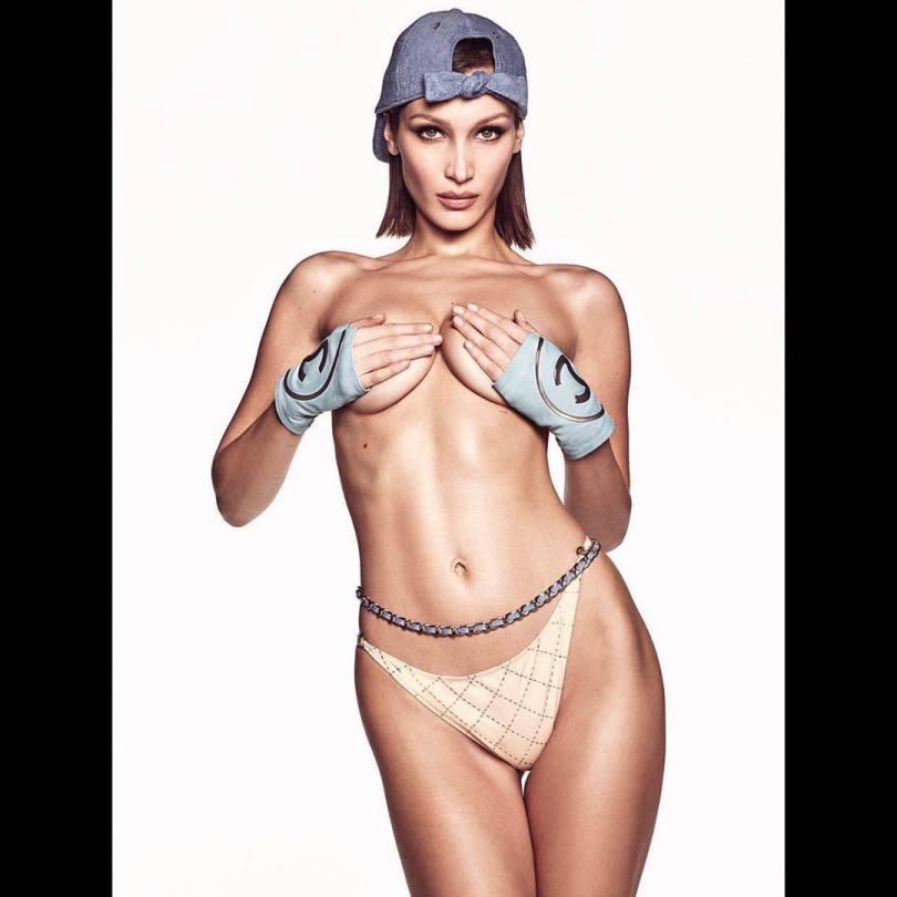 Bella Hadid Sexy Topless Boobs