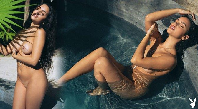 Claudia Tihan – Beautiful Boobs in Island Attitude Playboy Magazine Naked Photoshoot (NSFW)