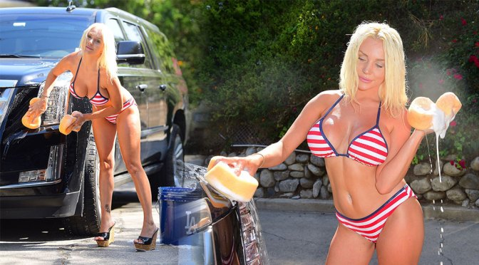 Courtney Stodden – Huge Boobs in Sexy Bikini Out in Los Angeles