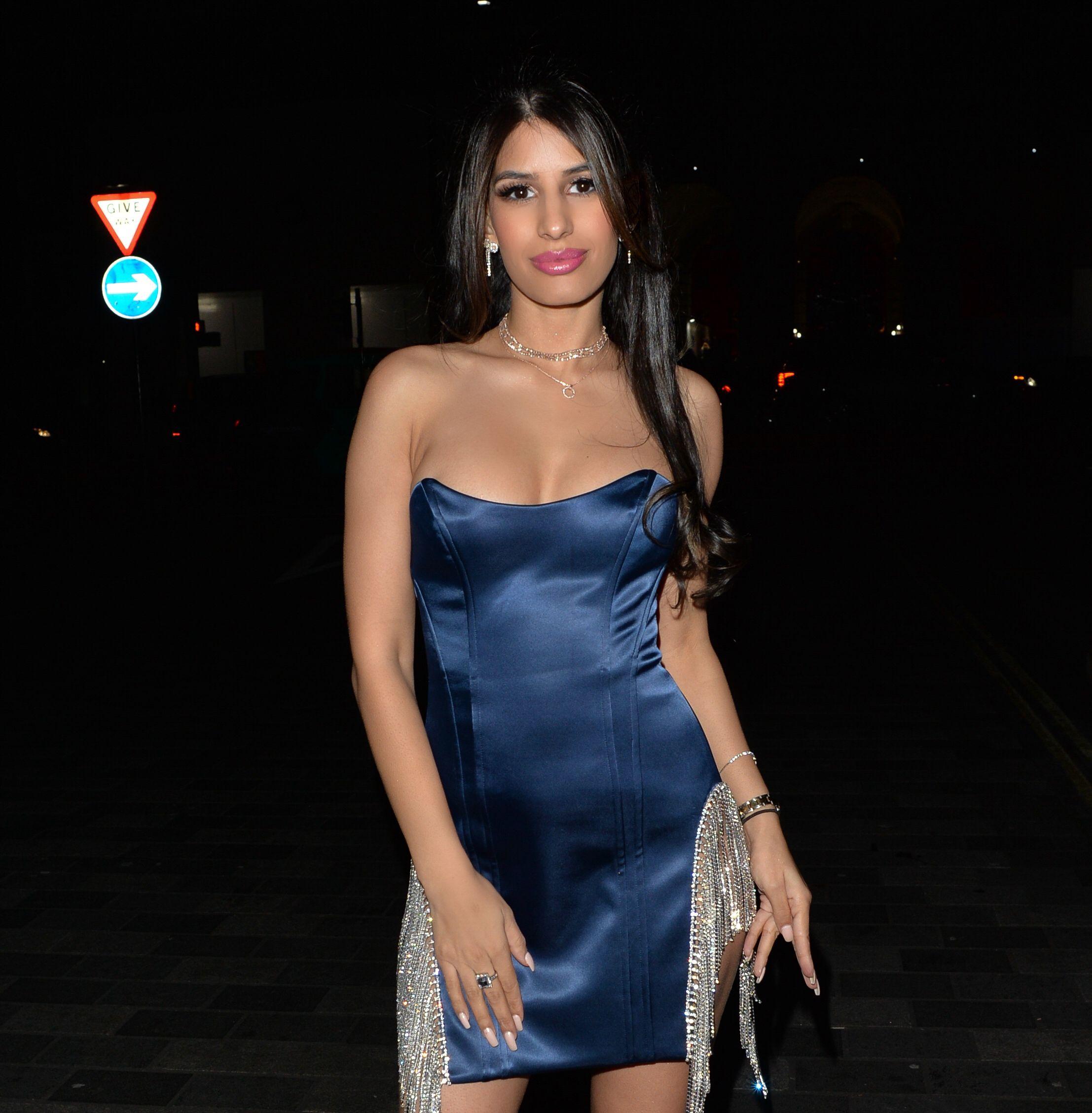 Jasmin Walia Sexy Dress