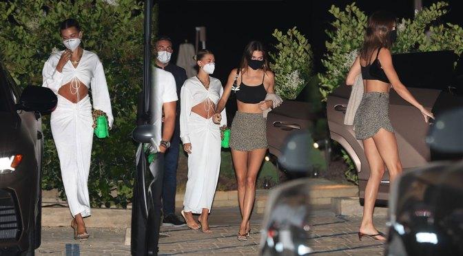 Kendall Jenner & Hailey Baldwin – Sexy Outside Nobu in Malibu