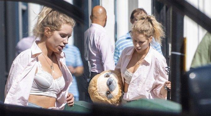 Lottie Moss – Sexy Boobs in a White Bra in Sussex