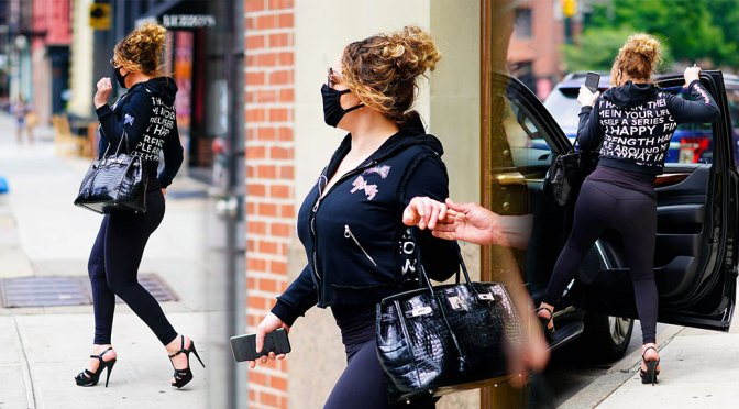 Mariah Carey – Sexy Curvy Body Out in New York