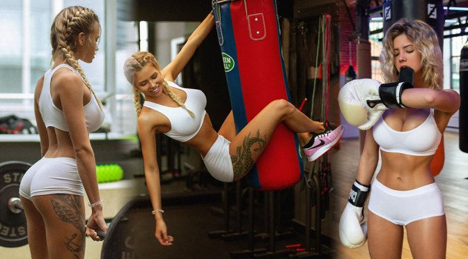 Natalya Krasavina – Spectacular Body in Tiny Sexy Shorts and Bra
