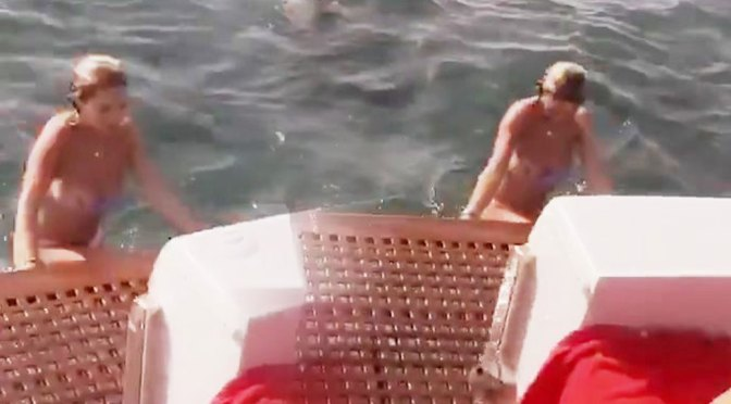 Rita Ora – Sexy Boob Slip on a Yacht in Ibiza