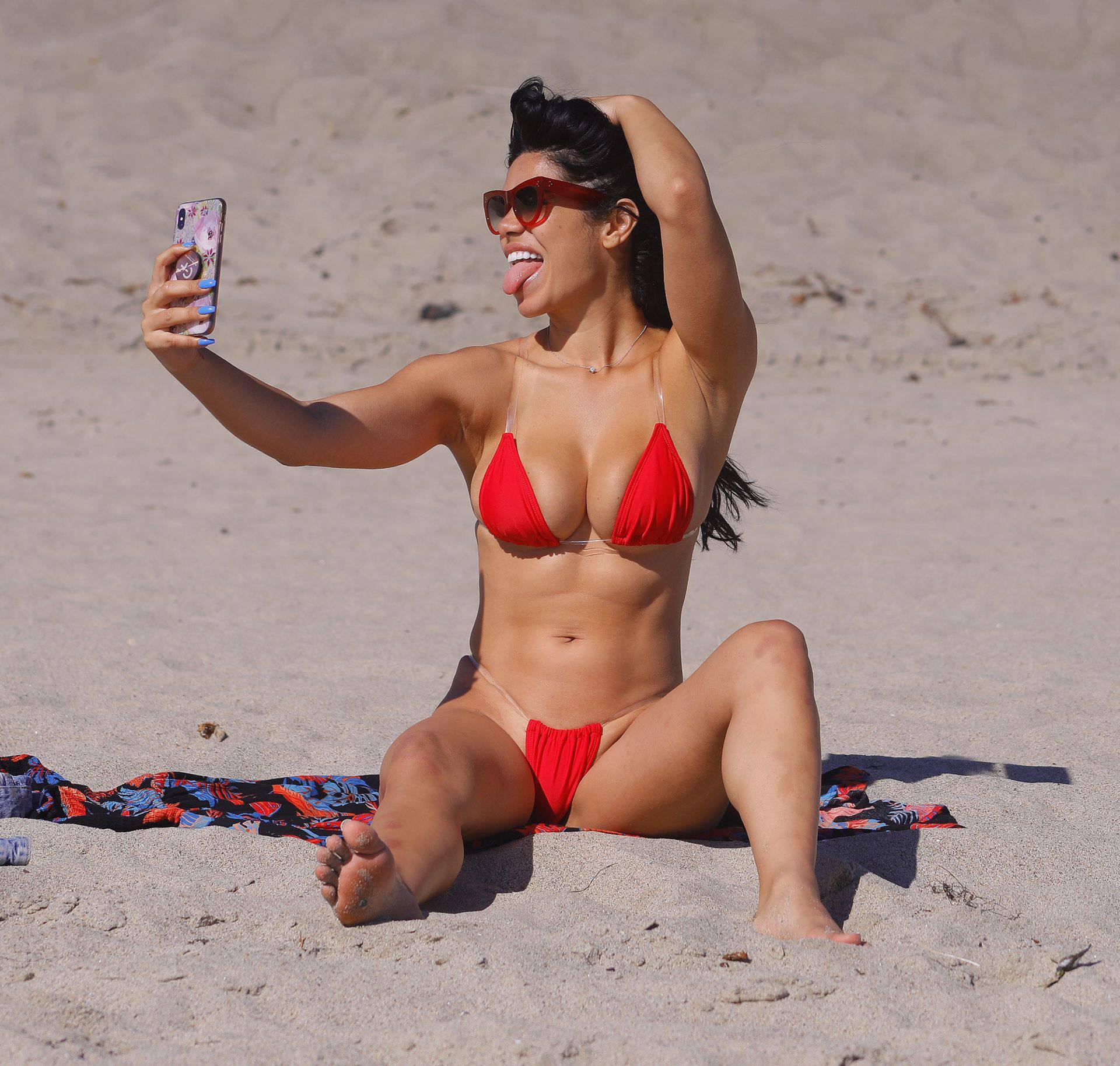 Suelyn Medeiros Red Bikini