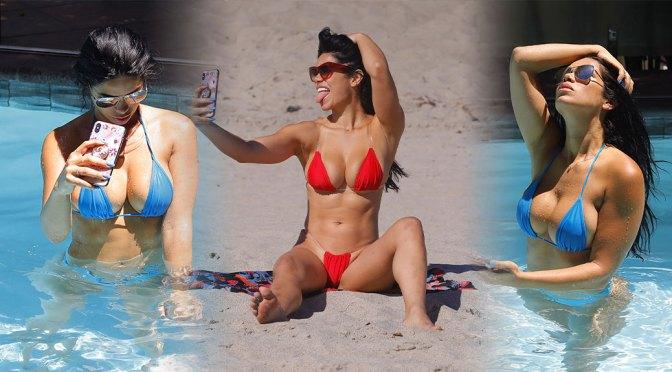 Suelyn Medeiros – Beautiful Big Boobs in Sexy Bikinis in Los Angeles