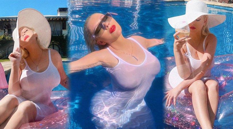 Chiristina Aguilera Hot Big Boobs In Wet T Shirt