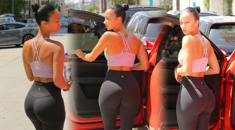 Draya Michele Sexy Huge Ass In Leggings