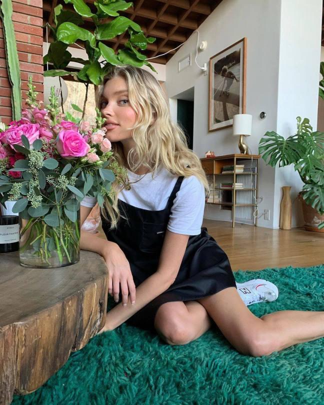 Elsa Hosk Pretty By Flowers
