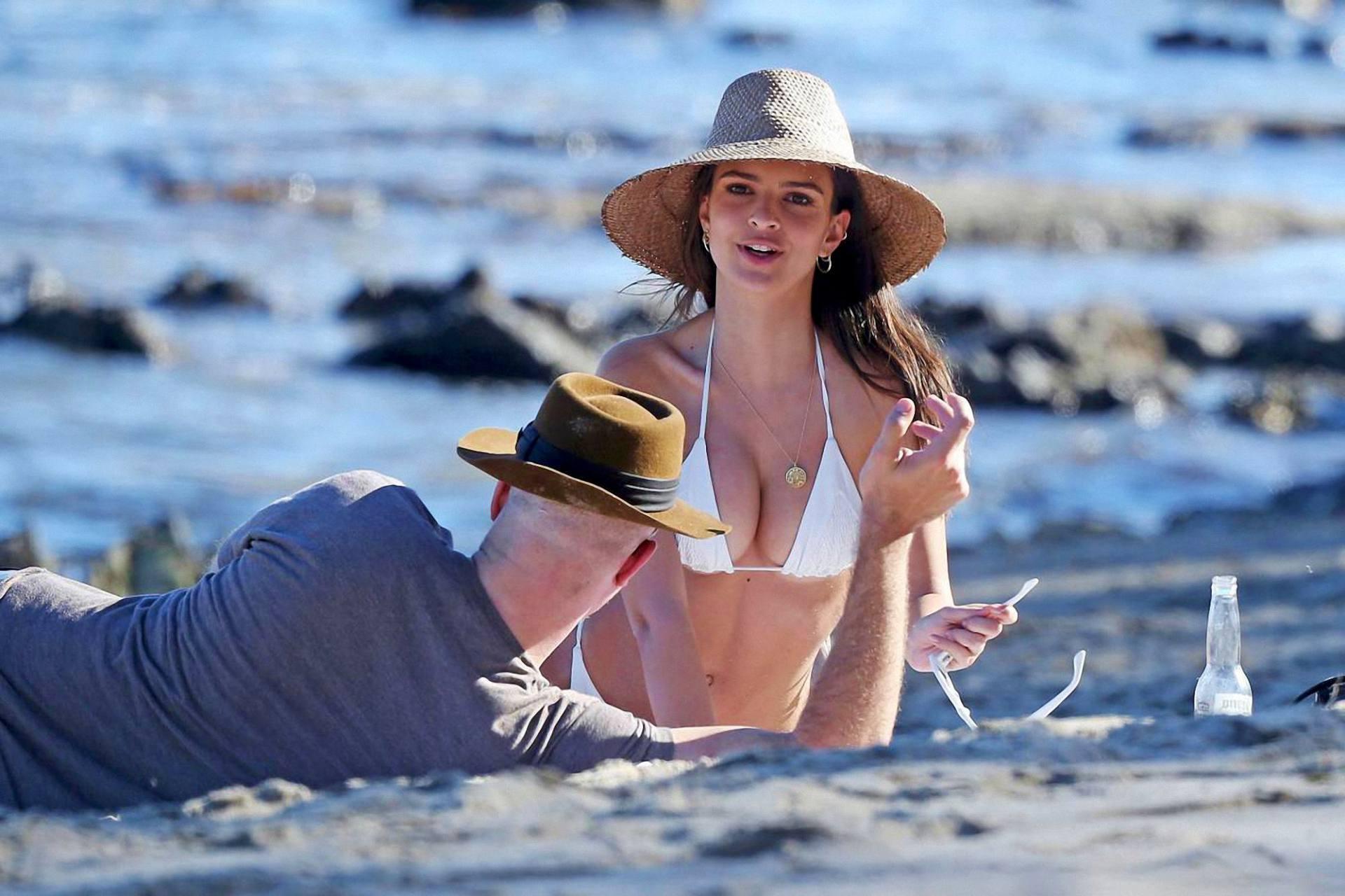 Emily Ratajkowski Sexy In White Bikini