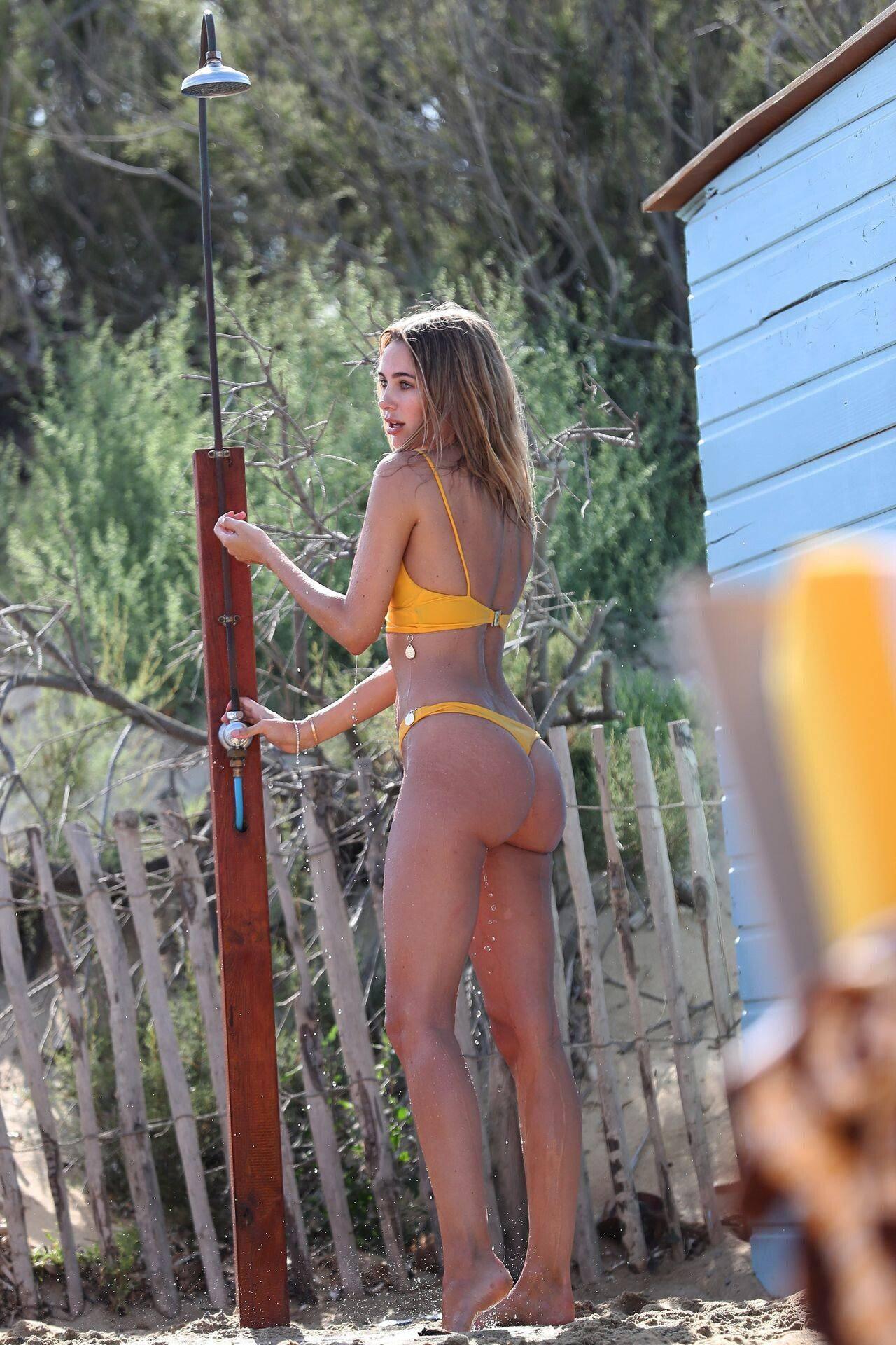 Kimberley Garner Thong Bikini