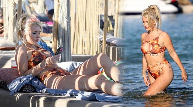 Lottie Moss – Beautiful Boobs and Ass in Bikini at the Beach in Mykonos