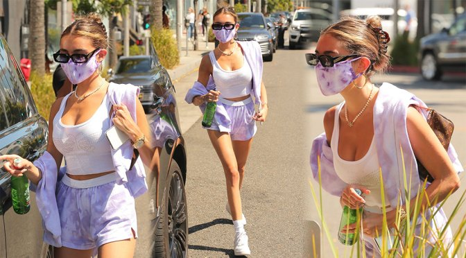 Madison Beer – Hot Body in Shorts Out in Beverly Hills