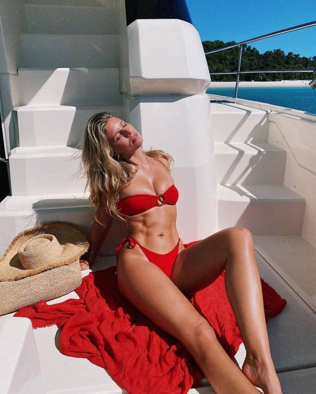Natasha Oakley Sexy Red Bikini
