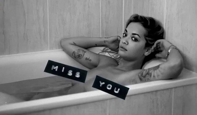 Rita Ora Topless In Bath