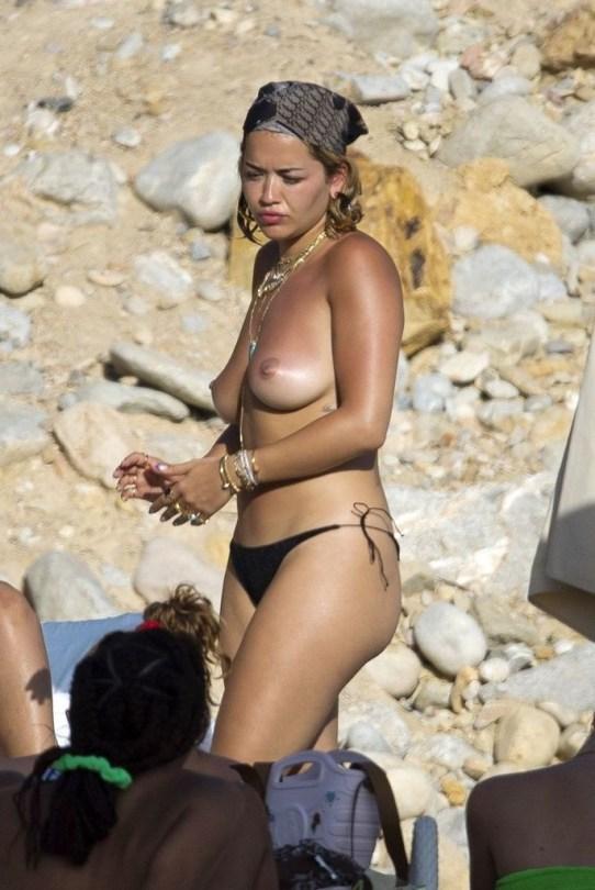 Rita Ora Perfect Topless Breasts