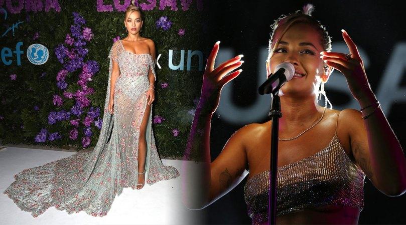 Rita Ora Sexy In Pretty Dress