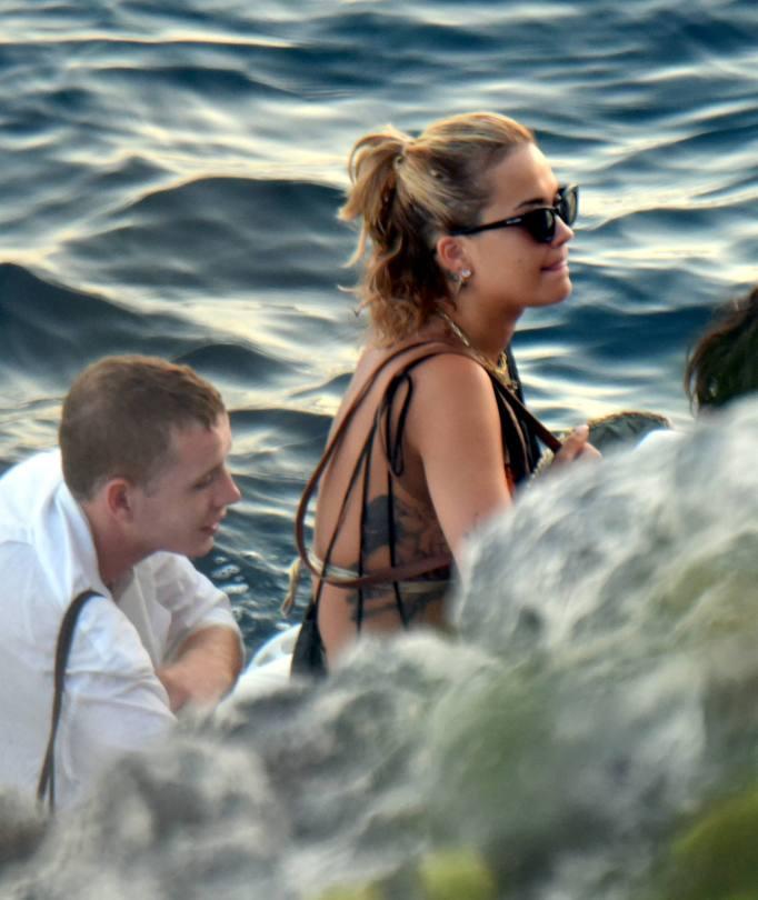 Rita Ora Sexy On Yacht