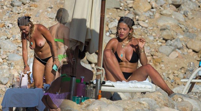 Rita Ora Topless Tits