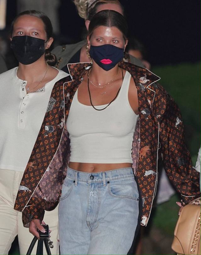 Sofia Richie Braless Boobs