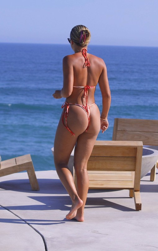 Sofia Richie Sexy By Pool