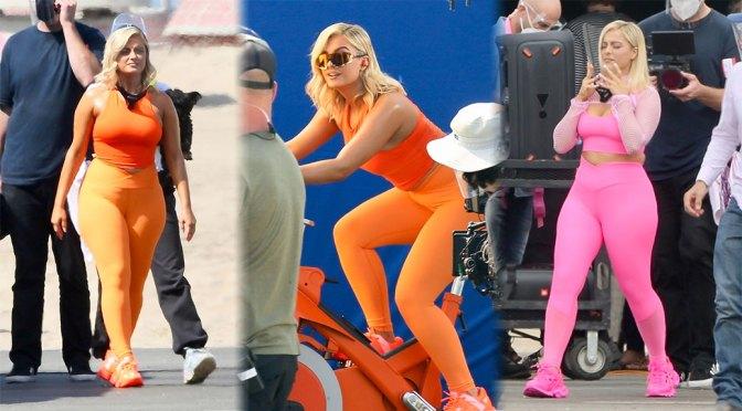 Bebe Rexha – Beautiful Thick Body at JBL headgear Photoshoot in Los Angeles