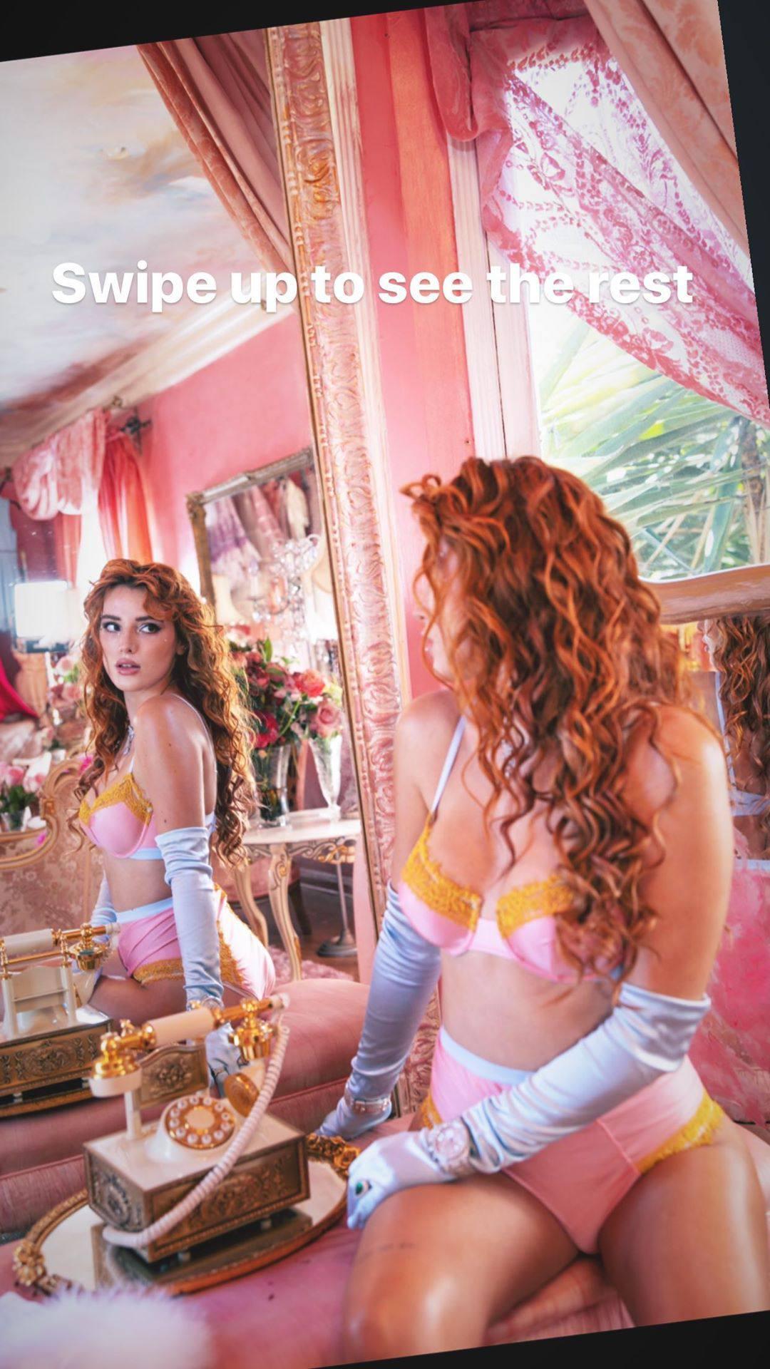 Bella Thonre Hot In Lingerie
