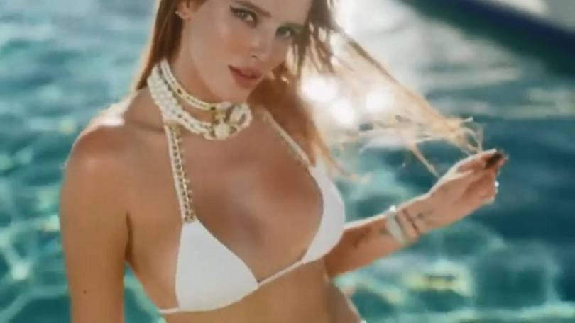 Bella Thorne In White Bikini