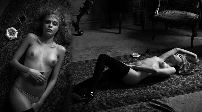Cara Delevingne – Beautiful Boobs in Topless Photoshoot by Peter Lindbergh (NSFW)