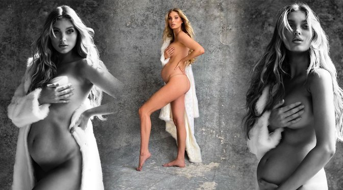 Elsa Hosk – Beautiful Boobs in Naked Pregnant Photoshoot by Sante D'Orazio