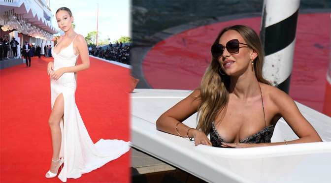 """Ester Exposito – Beautiful Boobs and Legs at """"Lacci"""" Premiere at 77th Venice Film Festival"""