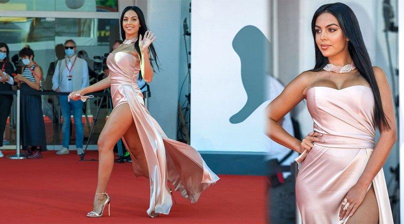 Georgina Rodriguez Sexy Legs And Breasts